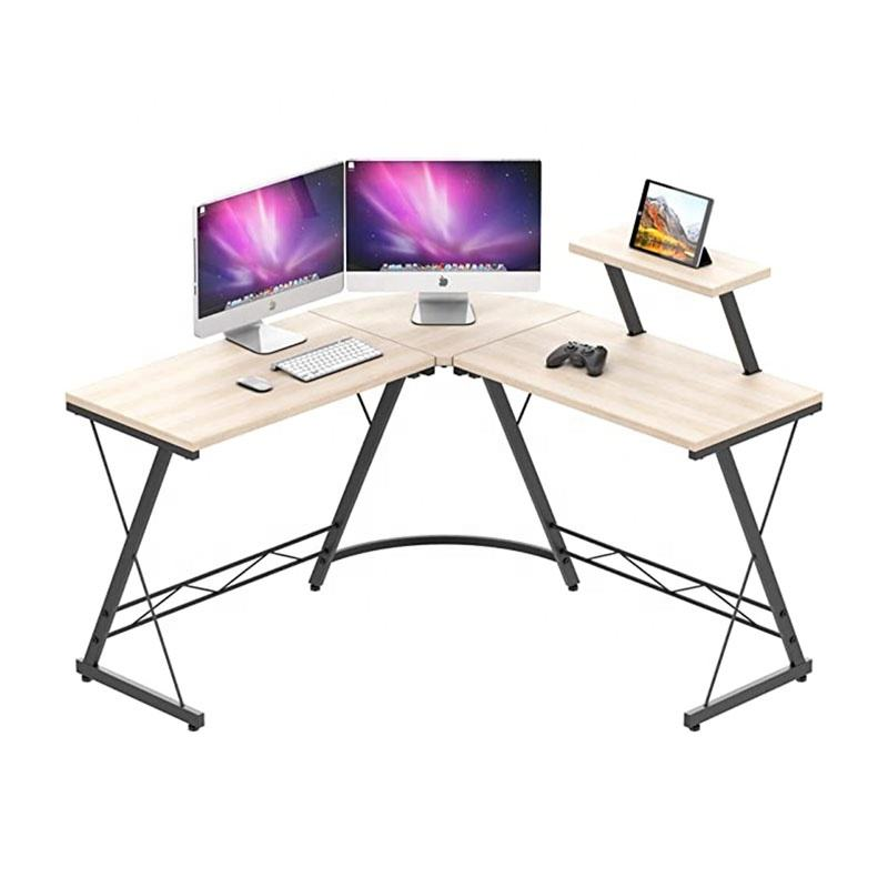 High Quality Steel Wood Desk With Rounded Corner Reception Modern Long Office Furniture Large Size Computer Table