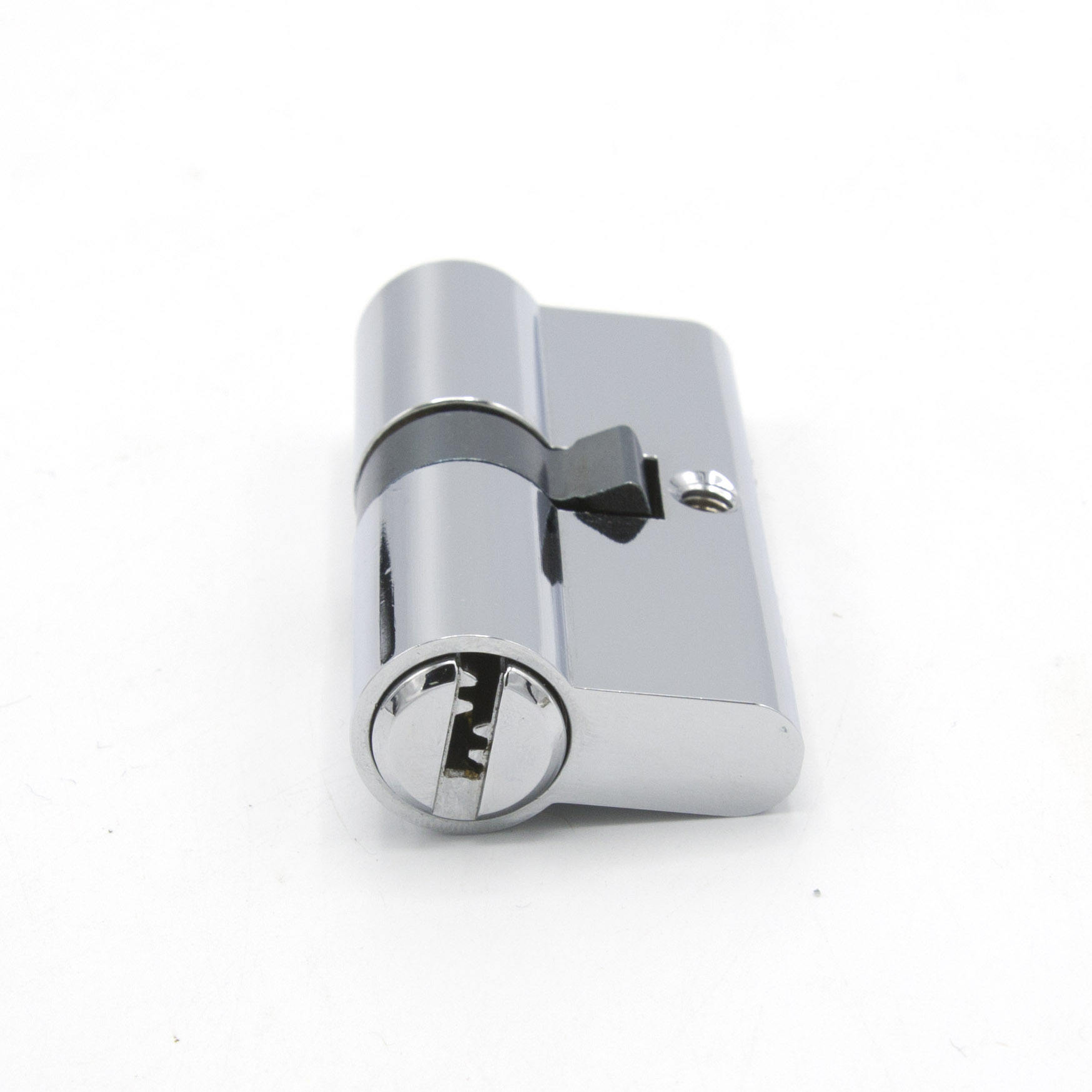 Cylinder Lock Brass Nickel Plated Euro Profile Key Cylinder Locks For Door