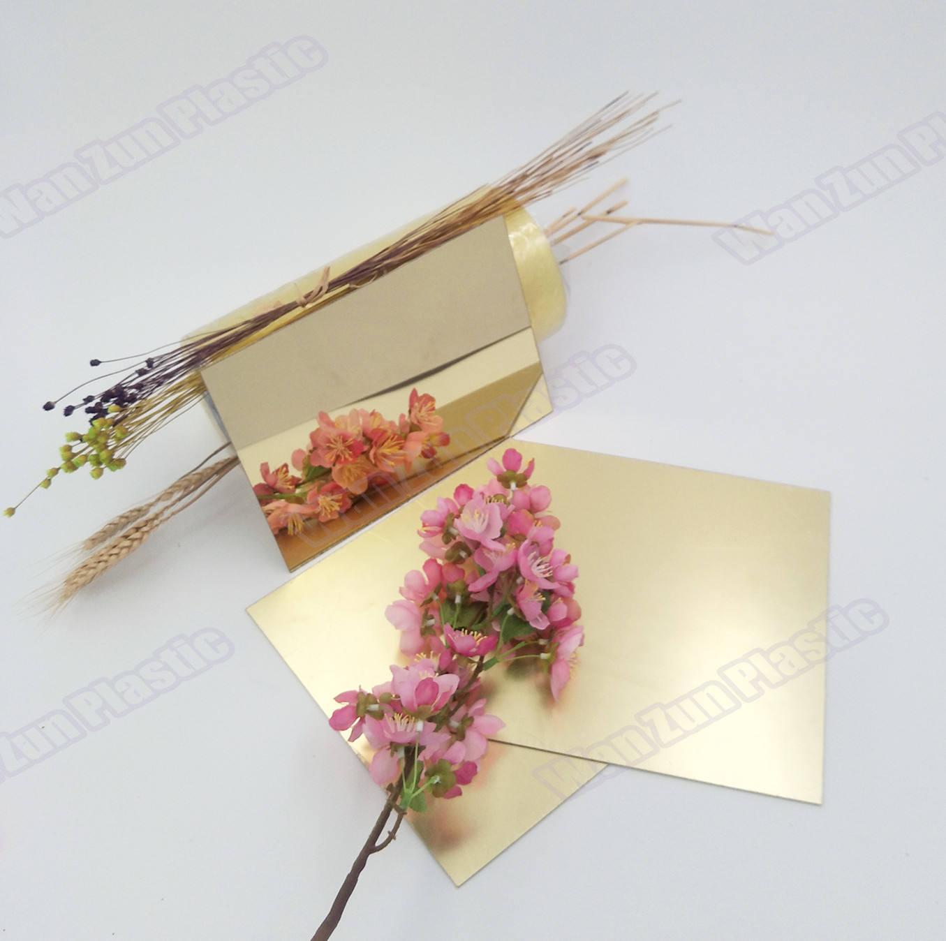 Multicolor hoja de espejo de acrílico nuevo diseño Flexible de plata hoja de espejo de acrílico con gran precio