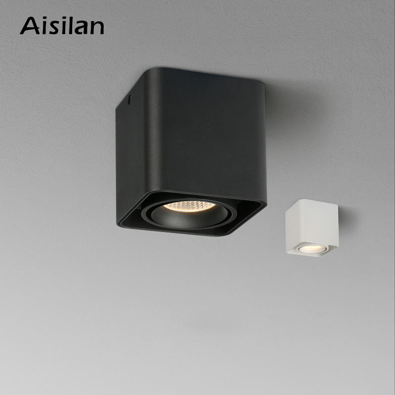 Aisilan restroom small square twin wallwasher adjustable GU10 dimmable fixture downlight led surface