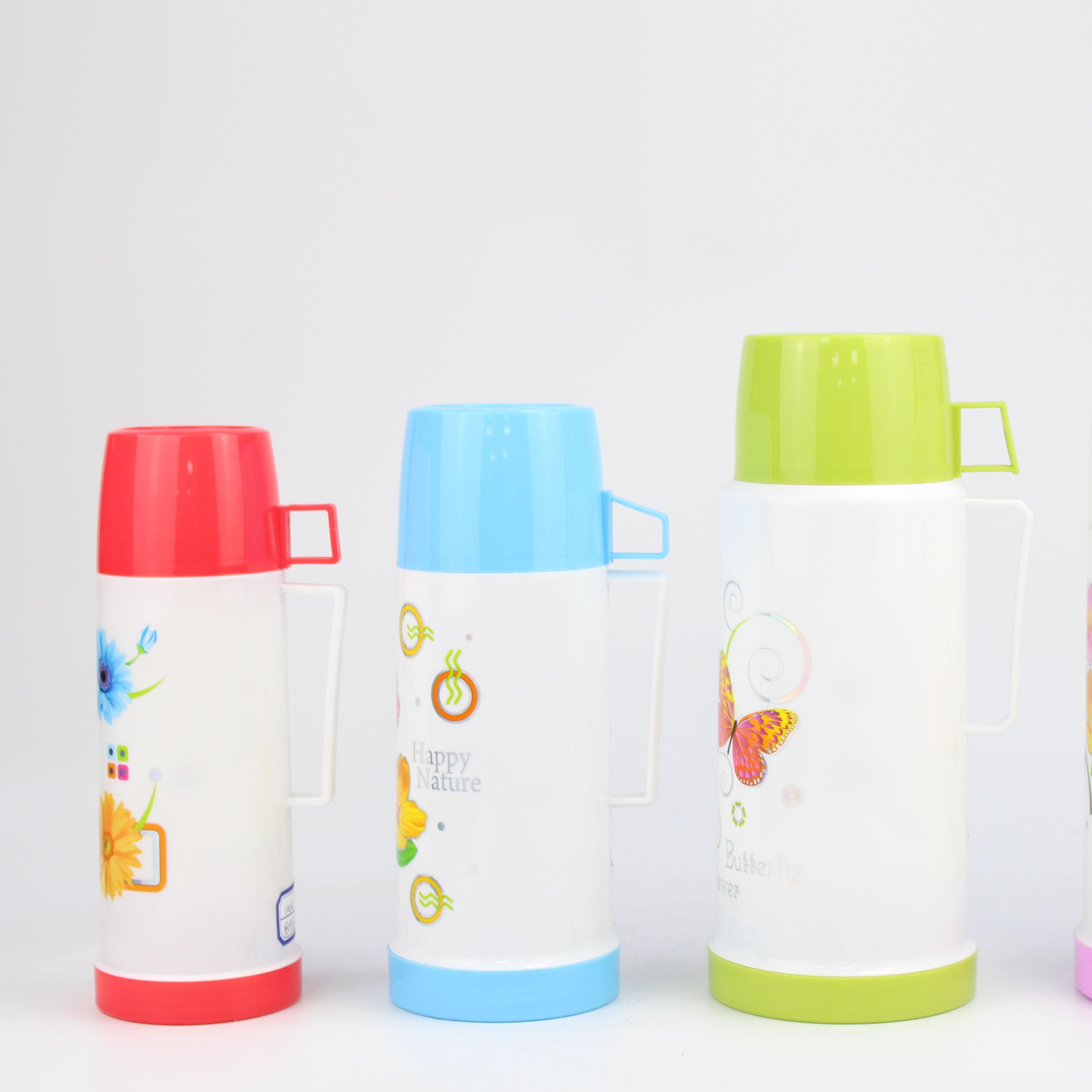 Termos de plástico WUJO Eco PP con relleno de vidrio para beber agua caliente familiar con tapa