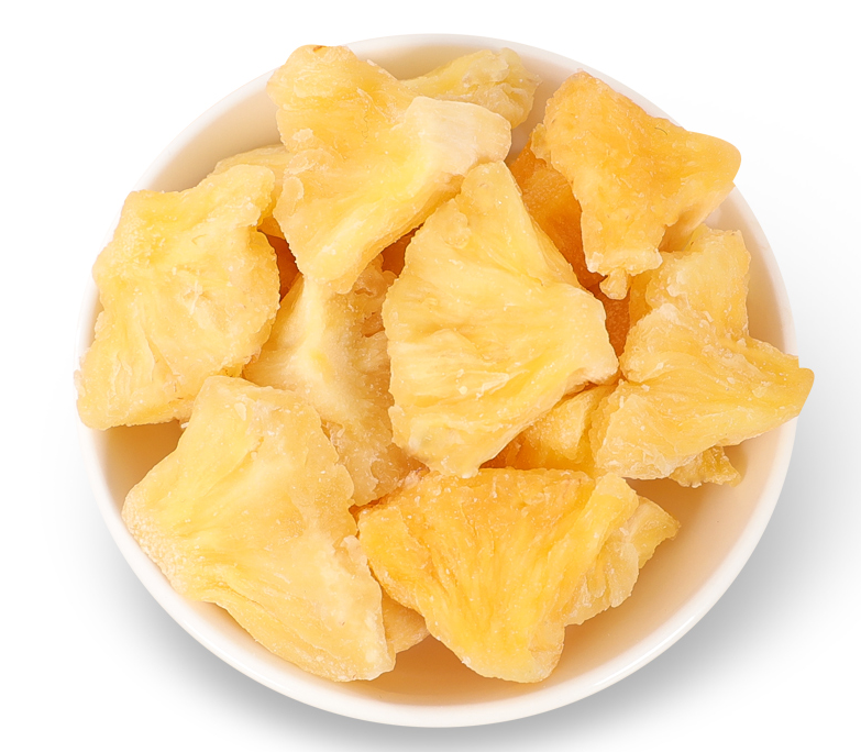 OEM Available Sweet Bulk Style Packaging Golden Yellow Fresh Dry Fruits Pineapple Dried