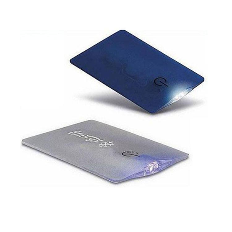 Unionpromo logotipo personalizado Mini bolsillo de tarjeta de crédito, linterna LED,