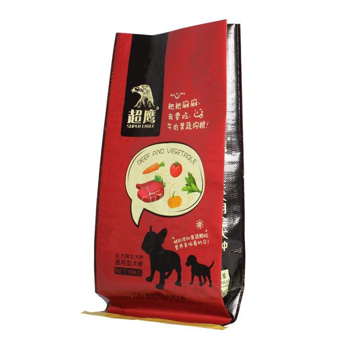 Durable laminado 25kg 50kg alimentación animal de plástico de los pp bolso de bopp para aves de corral