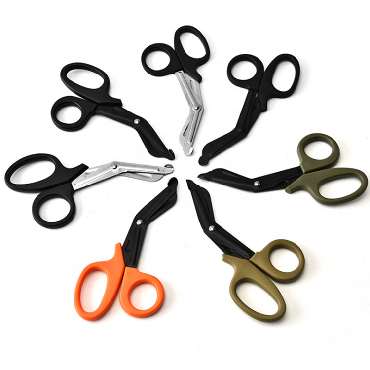 19cm Medical Device Lister Bandage Scissors For Nurse Cutting Bandage Trauma Scissors