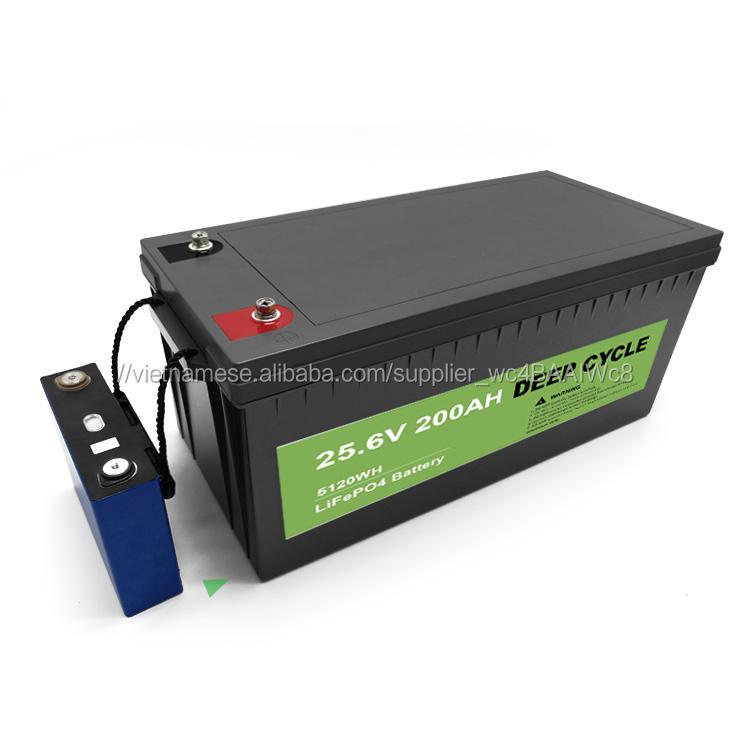Nguồn điện xanh Bộ pin Lithium Ion có thể sạc lại Lithium-ionen-akku Lifepo4 24v 200ah cho hệ thống năng lượng mặt trời