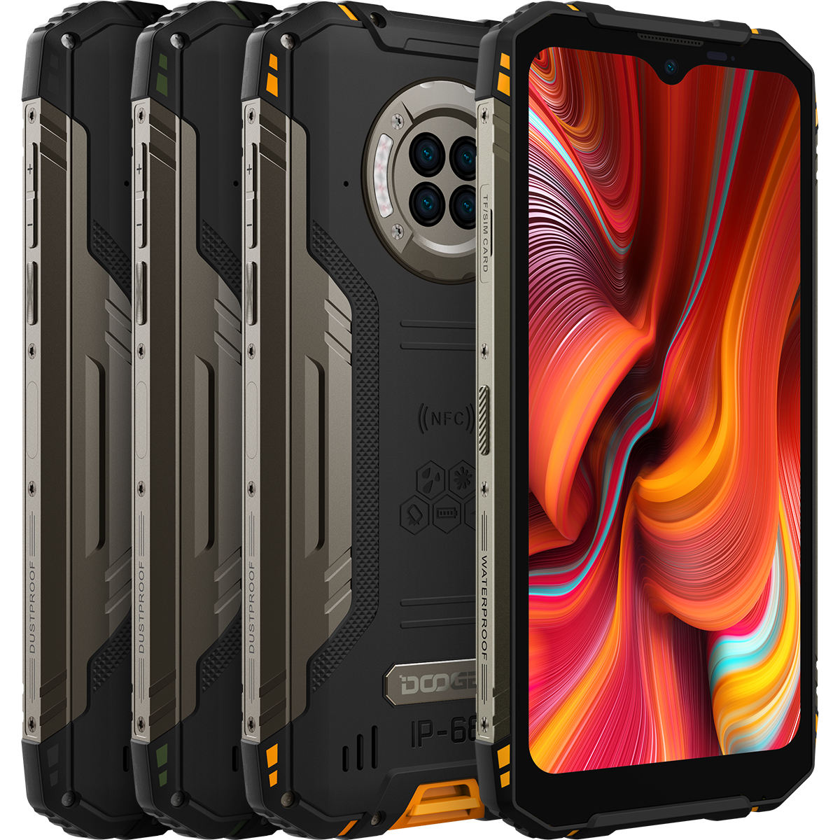 new Full Netcom 6350mAh Large battery 8GB+128GB doogee S96 Pro fingerprint mobile phone 5g mobile phones mobiles smart phones
