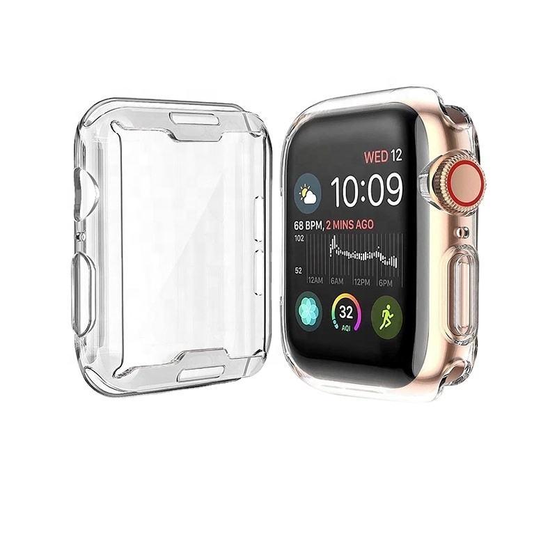 Mềm Trong Suốt Rõ Ràng Tpu Bảo Vệ Màn Hình Đồng Hồ Vỏ Bảo Vệ Cho Apple Watch Series 6 5 4 3 Se