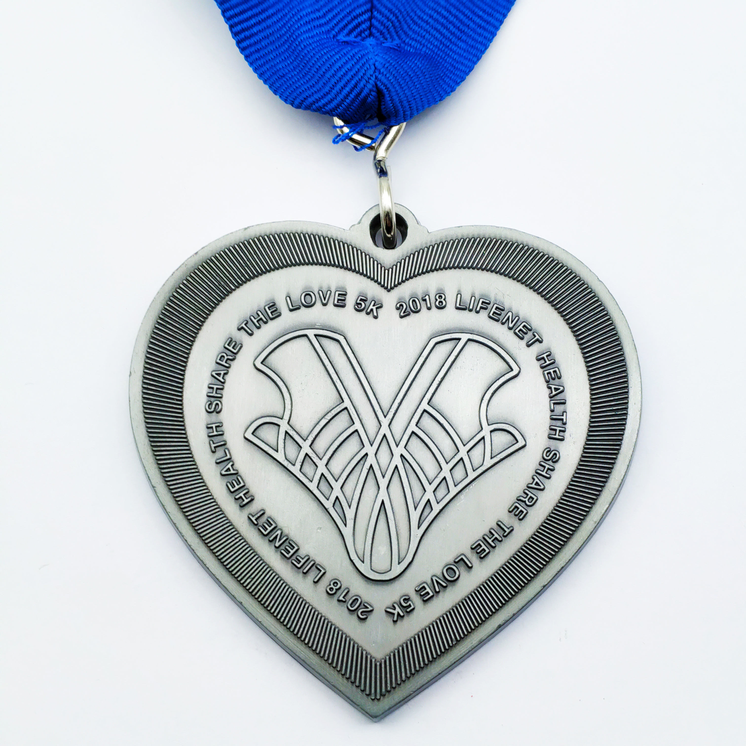 工場製造格安高品質lifenet健康共有愛 5 18k実行愛亜鉛合金エナメルメダル純粋なリボン