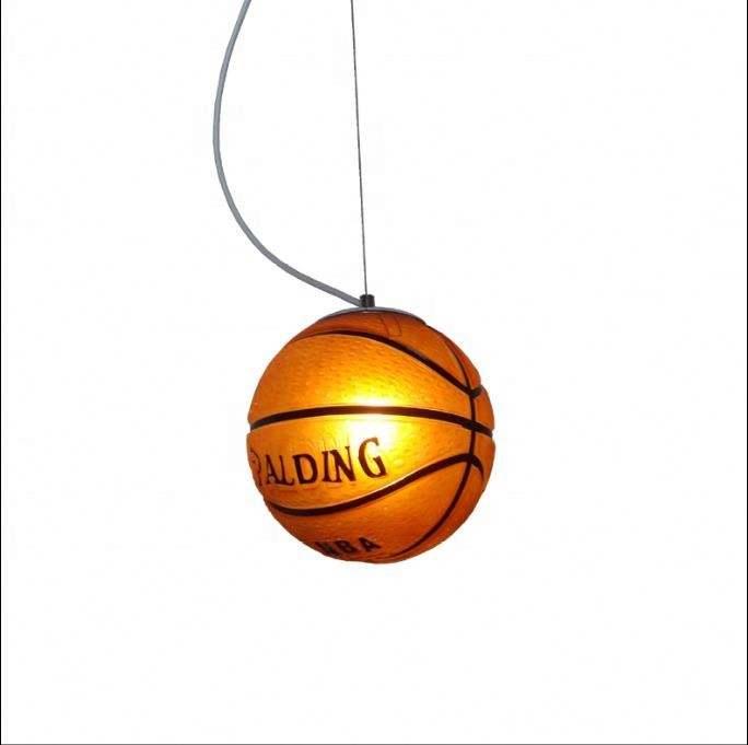 Loft e27 lampe halter industrielle indoor glas schatten Basketball kronleuchter für abendessen sterne