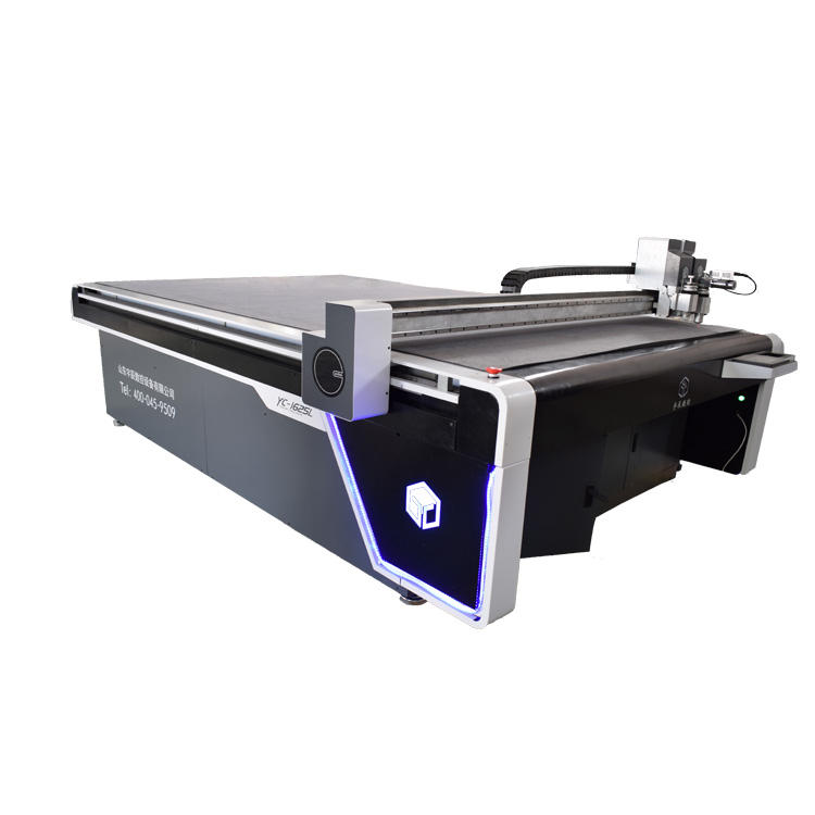 Oscillating knife round knife printed carpet mat cutting machine with high quality