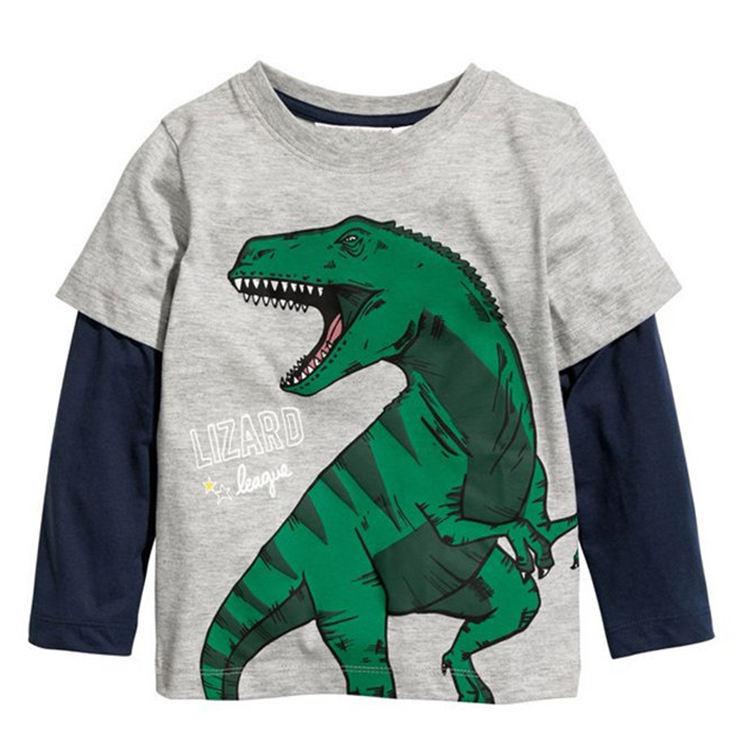футболки с длинными рукавами для мальчиков с принтом животных по индивидуальному заказу