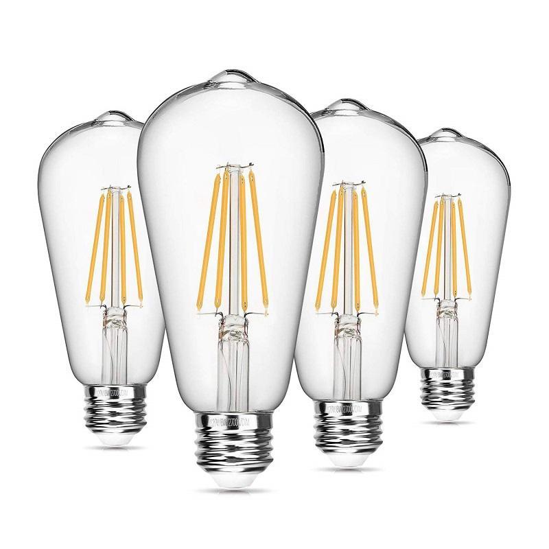 Buld LED 4W E27 4000k A60 винтажная Светодиодная лампа