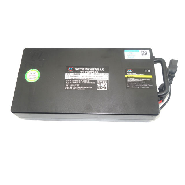 Hot Selling 60V 20Ah Rechargeable Motorcycle Lithium Ion Storage Batteries For Export