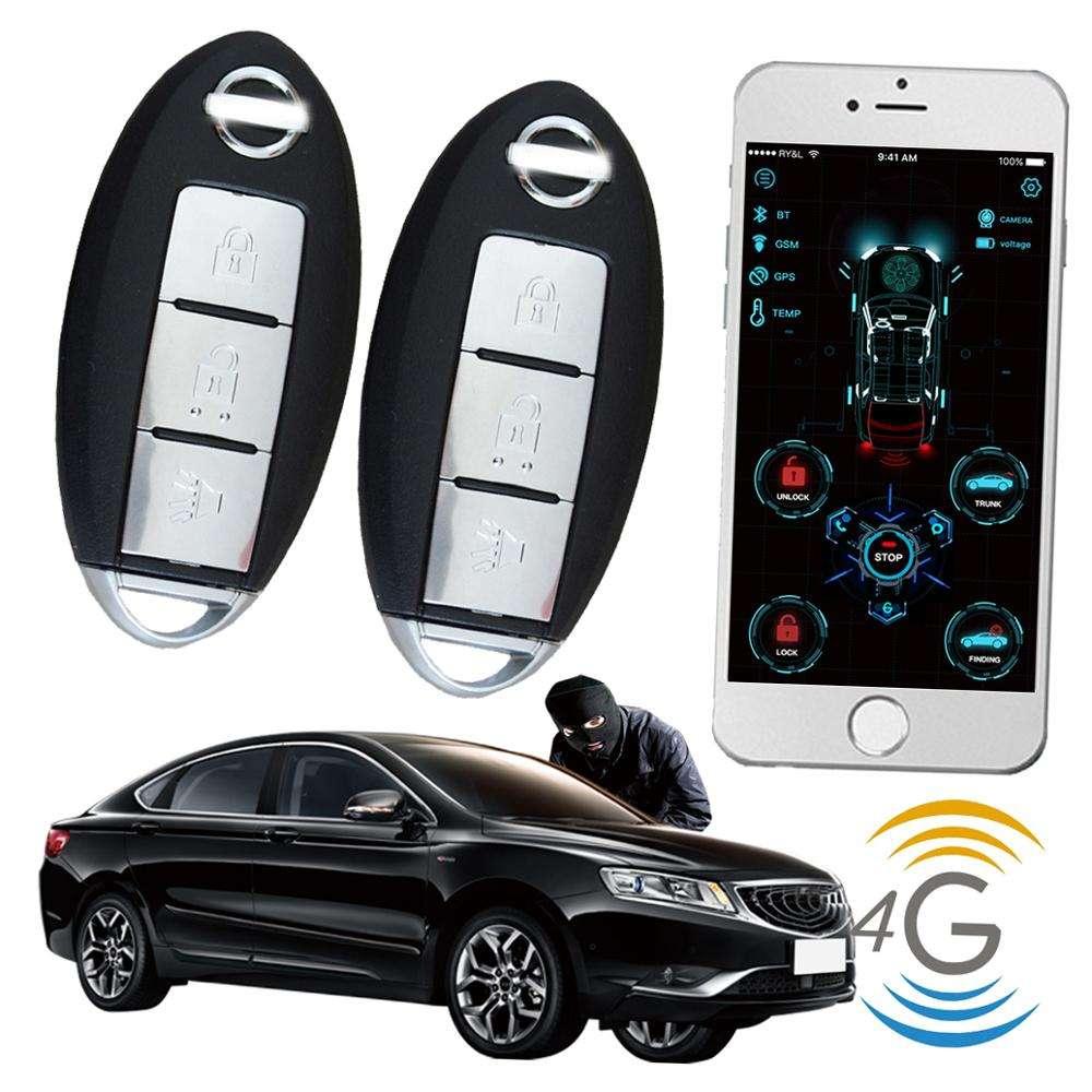Cardot 4g gps gsm Smart Pke de entrada sin llave de arranque del motor para arrancador remoto sistema de <span class=keywords><strong>alarma</strong></span> del coche