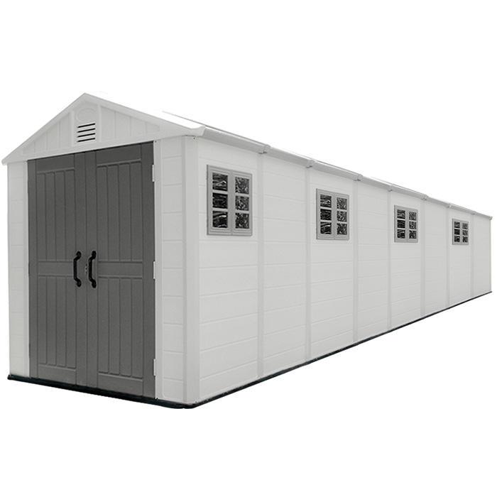 8-комнатный большой размер открытый HDPE пластиковый сарай для хранения сада