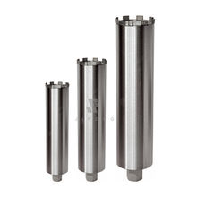 Core bits for drilling cured conrete, reinforced concrete and stone