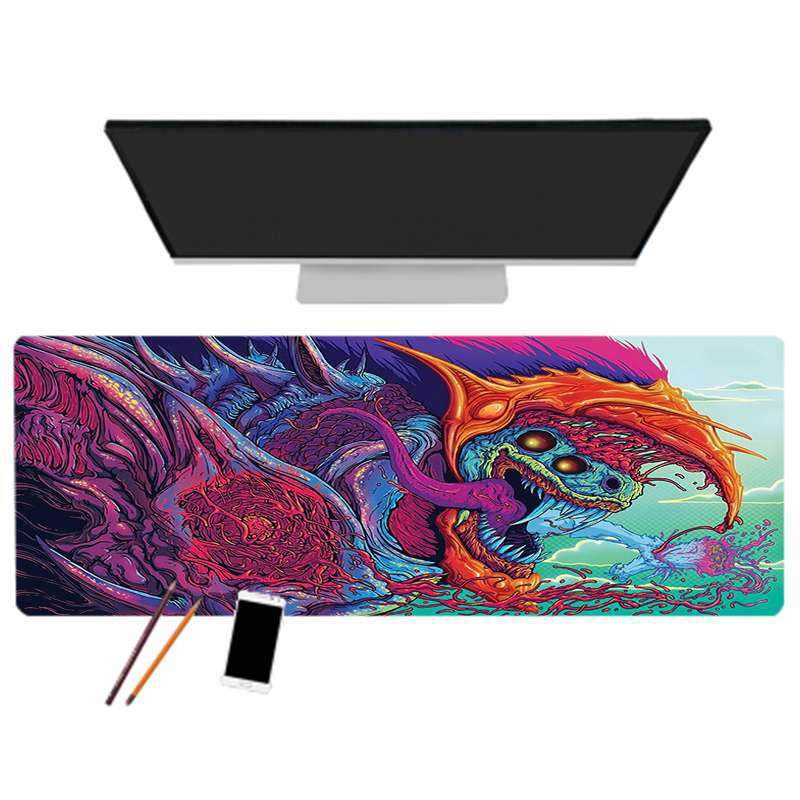 Hot high quality Hyper Beast sublimation mouse pad Gaming Desk Mat 400*900*2mm