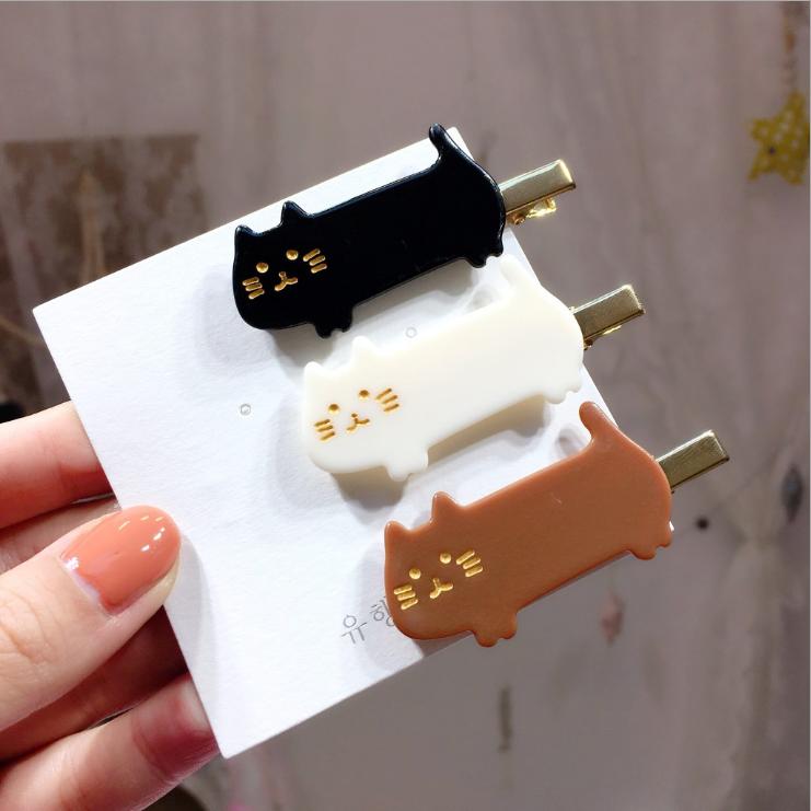 2019 nouveau design acétique acide or chaud estampage chat bonjour kitty pinces à cheveux accessoires de cheveux pour les filles femmes