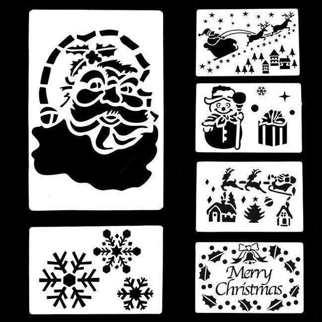 Merry Christmas PP/Pet Stencil Plastic Stencil for kids painting