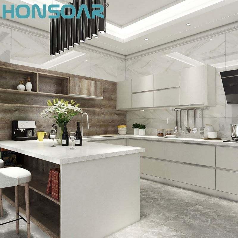 Home Mobiliário de Design Clássico Estilo Francês de Luxo Real de Madeira Sólida Armário De Cozinha de Madeira