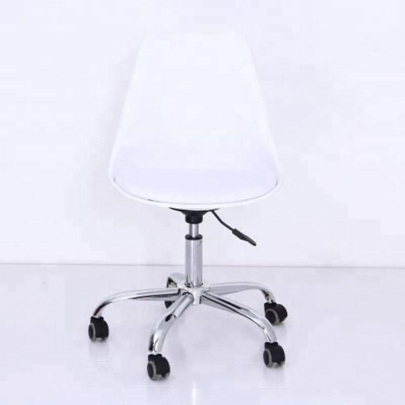 Silla de escritorio para estudiantes de oficina en casa con giro ergonómica ajustable sin brazos y con respaldo bajo