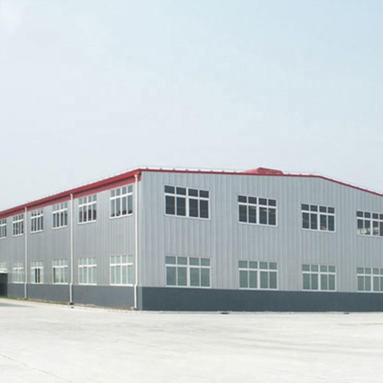 Fábrica prefabricados de estructura de acero ligero edificio taller prefabricado almacén