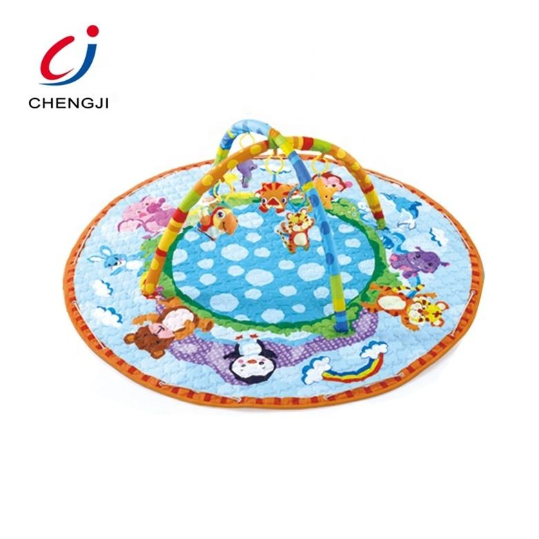 Comfortable Game Pad Foldable Activity Baby Play Mat, Big Round Storage Bag Gym Baby Floor Mat Play