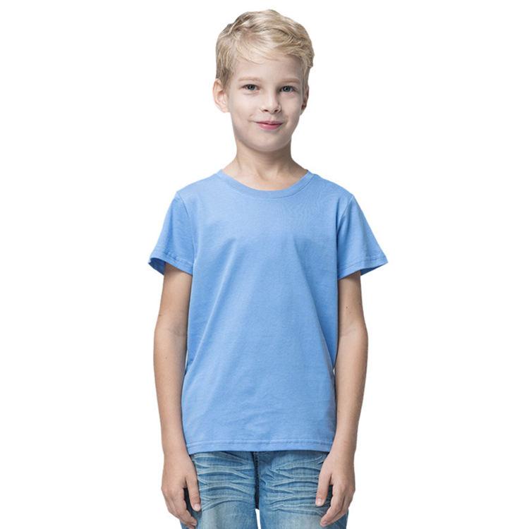 Custom Logo Print Children Kid Summer Blank Solid Boy Tee Shirt Oeko-tex Plain Tagless T-Shirt Combed Cotton Boy tshirts For Kid