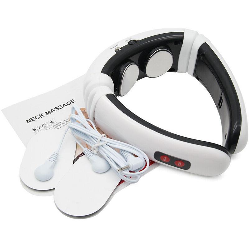 recargable eléctrico inteligente vértebra Cervical impulso cuello masajeador pulso terapia almohada para el cuello masajeador