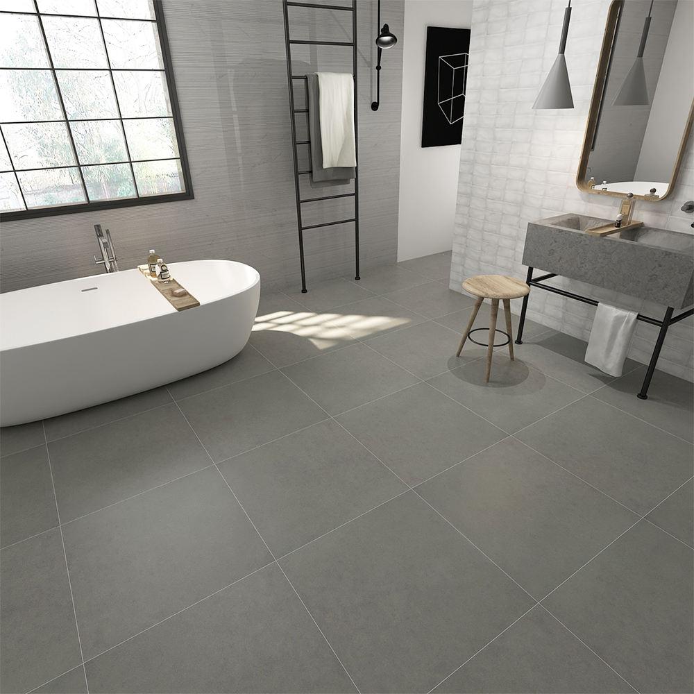 rústico cuarto de baño azulejos de porcelana vidriada gris diseño de la cola