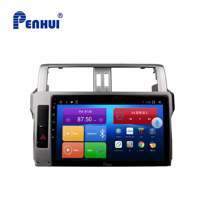 10.1 pouces Android Octa Core 4 go de RAM + 64 go ROM voiture DVD GPS système pour Toyota Prado 150 (2014-2017)