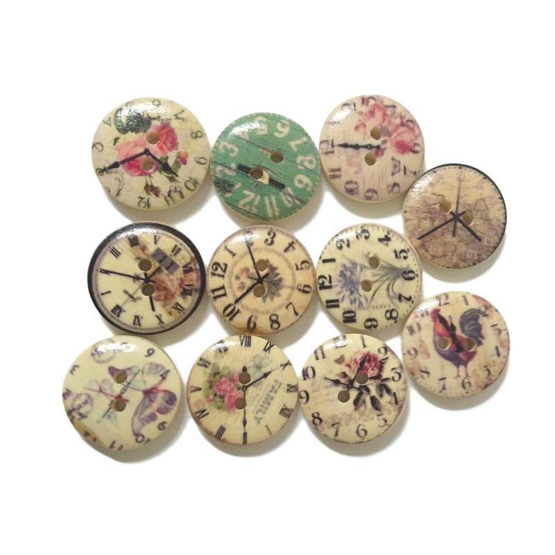 Conception personnalisée Horloge <span class=keywords><strong>Temps</strong></span> Impression Bouton Décoratif Pour Vêtements Pour Enfants