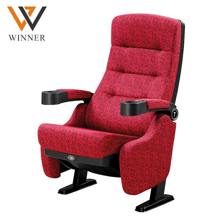 Color opcional patrón móvil 3d película sillas de teatro pliegues público concierto Cine Teatro asientos