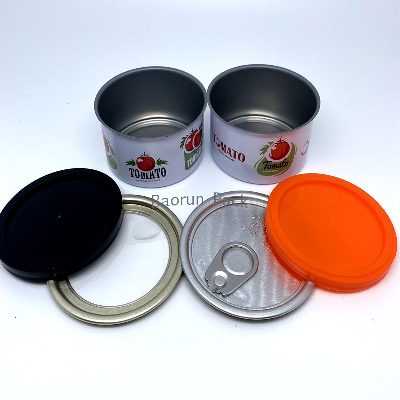 Quality Tuna Tin Cans 3.5g with Label Custom Tin Cans with Clear Lid