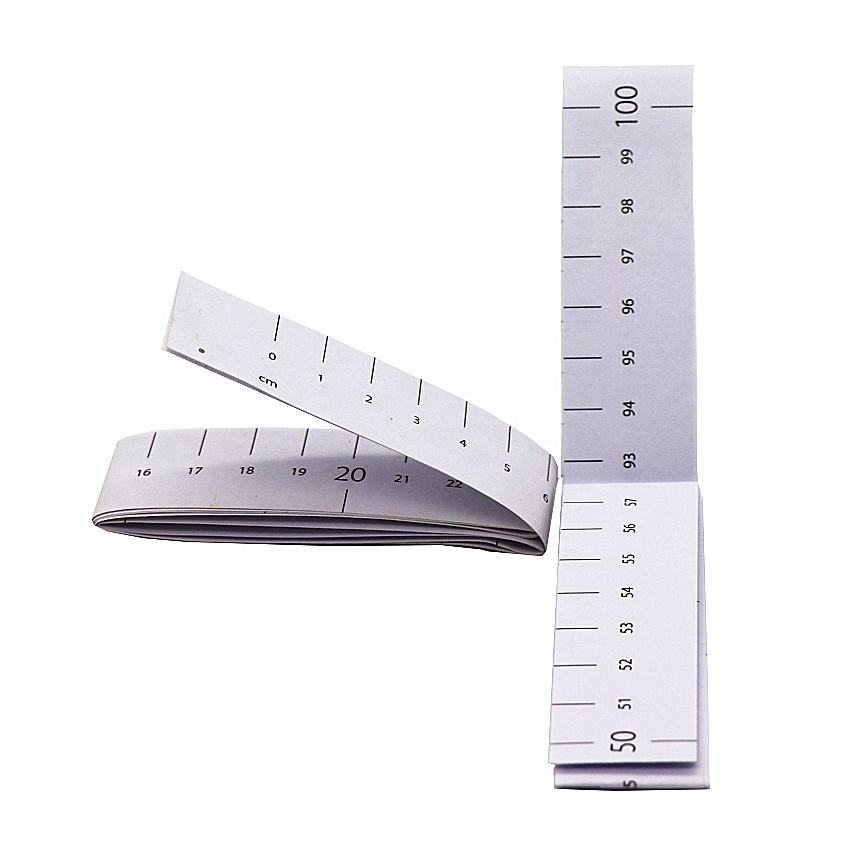 40inch Custom logo tape measure 100cm Medical Synthetic paper Measuring Tape