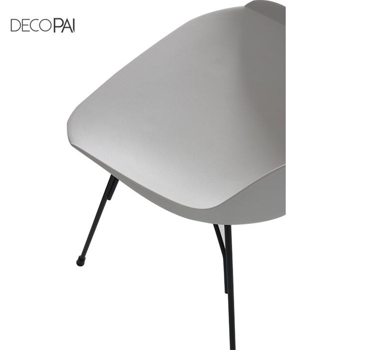 Moderne designer club kaffee shop restaurant parlour lounge möbel tisch PP kunststoff metall esszimmer stuhl