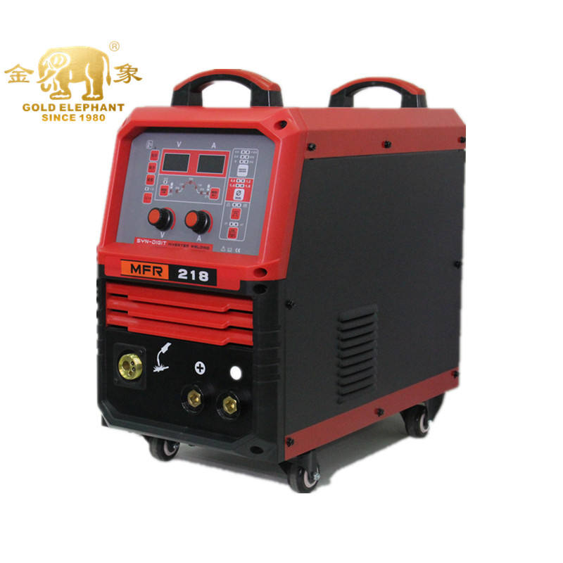 MFR-218 Xách Tay 220 Amps MIG/Tig/MMA Máy Hàn Que Hàn 0.8 Mm 3IN1 IGBT Inverter Máy Hàn