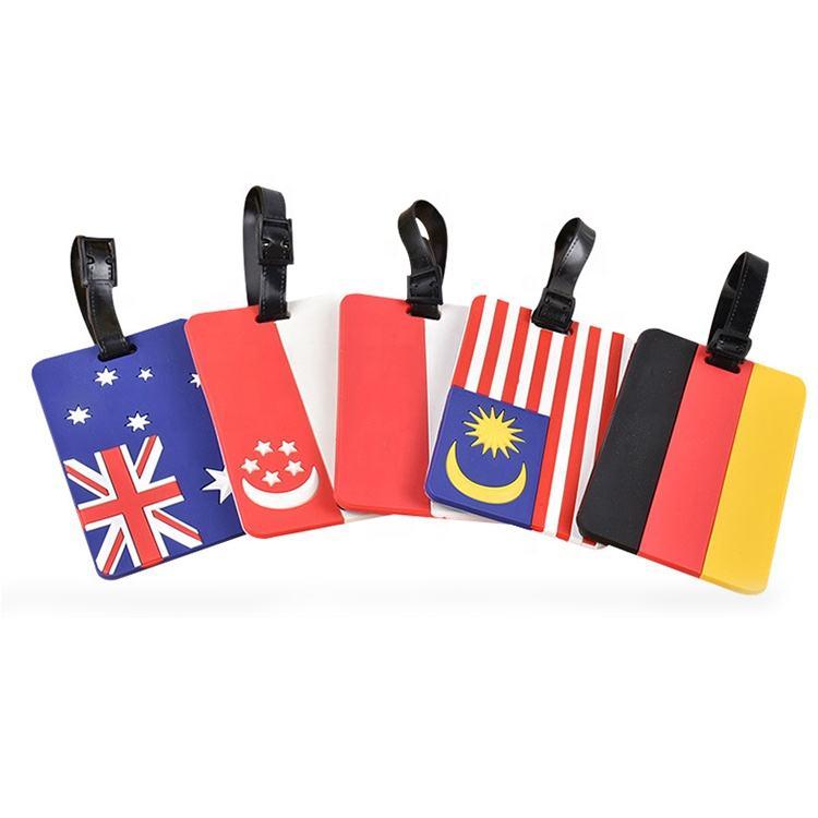 Оптовая продажа Китай превосходное качество Новинка Дизайн Страна Флаг Австралия мягкий ПВХ чемодан бирка для <span class=keywords><strong>продвижения</strong></span>