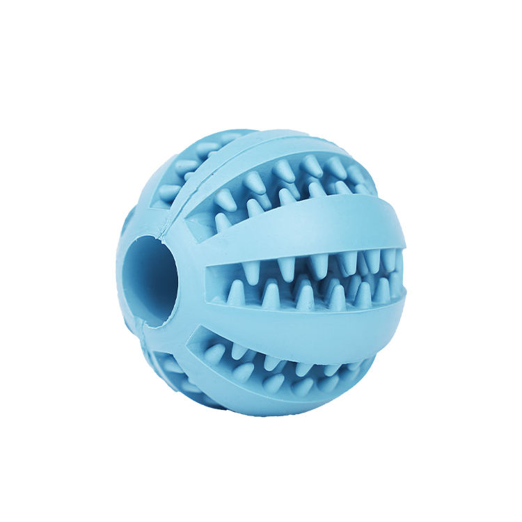 New Eco Treat Large Breed Rubber Hide and Seek Interactive Toothbrush Ball for Aggressive Chewers Dog Chew Toy