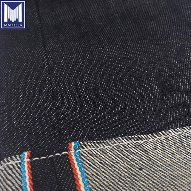 Lager lot dicke japanische denim 100% baumwolle stoff schwarz beschichtet für männer hosen