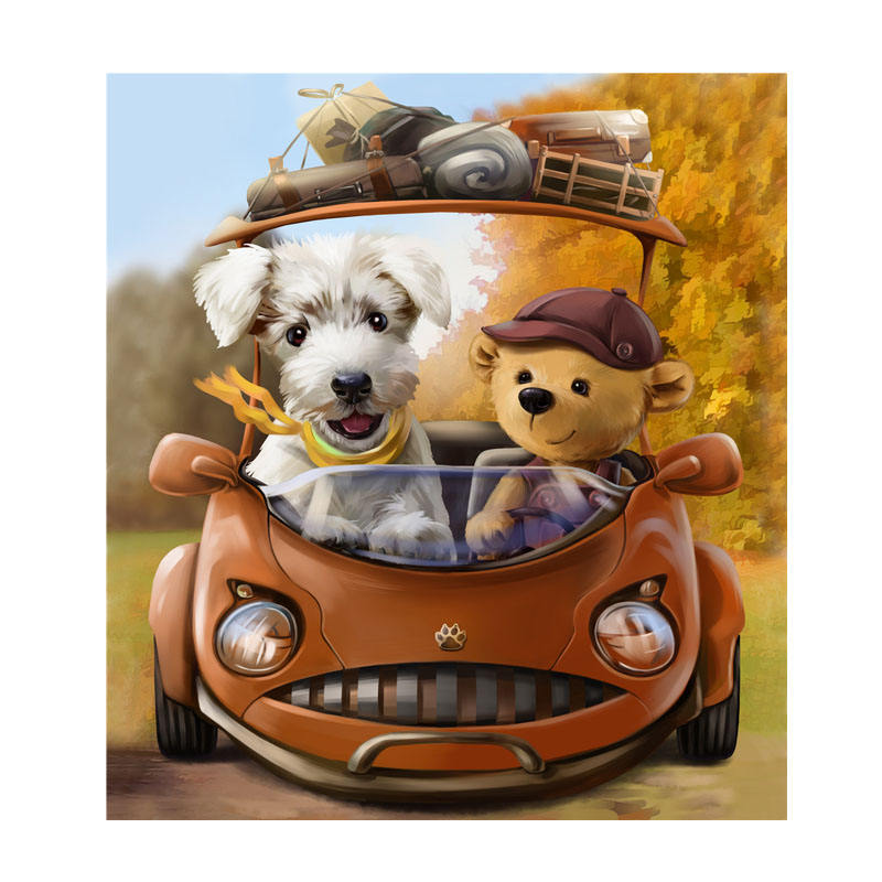 Puzzle game custom puzzle factory price 100 piece dog puzzle