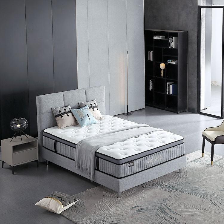 Горячая продажа кровать евро высшего качества индивидуальный карман весна постельные принадлежности пены памяти матрас
