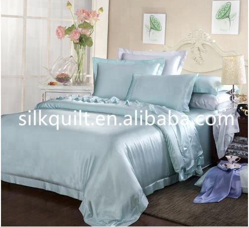 En gros 19 MM 100% Pure Soie Literie ensembles De Draps/linge de lit Reine/Roi maison/hôtel textile Personnalisé conception