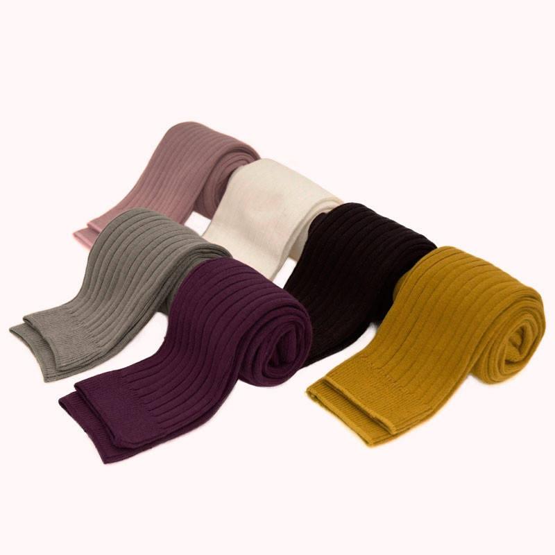 6 однотонных цветов милые ребристые леггинсы детские брюки