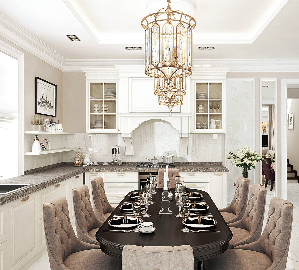 Venda quente luxo macio perto da gaveta de madeira real de quartzo bancada armário de cozinha