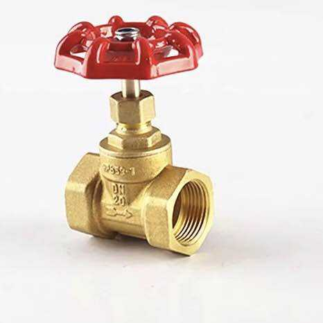 good price Brass Gate Valve with Red Wheel Handle DN 15/25/32/50 made in china