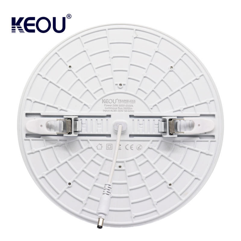 Smart Round dimmable 18W recessed smd led panel light frameless OEM ODM