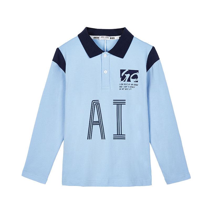 ABC KIDS wholesale Autumn Casual Cotton Letter Print Collars Kids Boys Pullover Sweatshirt