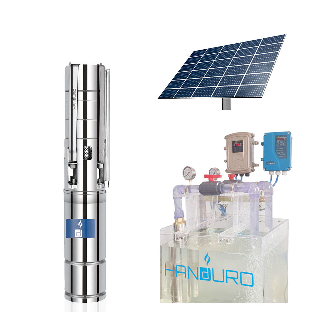 110v 1500w 7m3/h 100m 2ph brushless solar submersible pump with stainless steel impeller